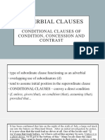 Conditional Clauses of Condition, Concession and Contrast