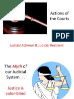 PPT Judicial Activism and Restraint