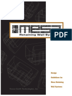 Nilex-Design Guidelines for Mesa Retaining Wall Systems