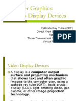 Unit I Lecture 2 Display Devices