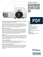 Epson TW5600 2500-Lumen Full HD Home Theatre Projector Datasheet