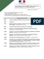 Programme Prévisionnel Du Voyage Officiel d'Annick GIRARDIN, Ministre Des Outre-Mer, En PF Du 21 Au 26 Janvier 2018