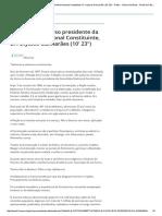 Íntegra Do Discurso Presidente Da Assembléia Nacional Constituinte, Dr Ulysses Guimaraes.