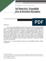 Dubrow_j Governança Global Democracia Desigualdade Politica