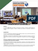 Plan g10 - Licenciatura en Teología Bíblica 26 12 2017