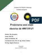 Din_Alexandru_2406 Proiectarea Unei Statii Electrice de Transformare 400-110kV