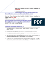 Byrd and Chens Canadian Tax Principles 2012 2013 Edition Canadian 1st Edition Byrd Solutions Manual