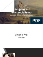 Mujeres y Existencialismo (Weil, Arendt, Beauvoir)