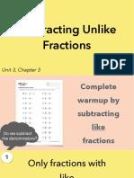 3.3b Subtracting Unlike Fractions
