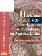 1997 Hacia Una Metodología de La Historia de Las Ideas (Filosóficas) en América Latina.