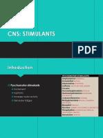 CNS-Stimulants, Anesthetics Drugs