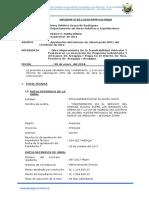 INFORME Nº01-2018 DE SUPERVISOR DE OBRA