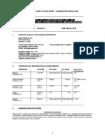 Certificado de calibración de gas