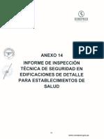 Anexo 14 Informe de ITSE de Detalle Para Establecimientos de Salud
