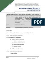4.3 Memoria de Calculo Instalaciones