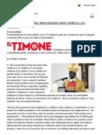 Cardenal SarAH No Hay Intercomunión Entre Católicos y No Católicos