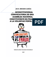 Brewer Carias La Inconstitucional Convocatoria an Constituyente Junio 2017 Final