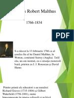 Prezentare Thomas Malthus
