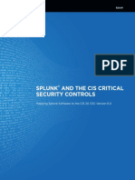 Splunk and the SANS Top 20 Critical Security Controls