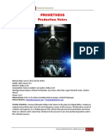PROMETHEUS Production Notes