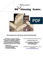 No More Affordable Housing Scams Poster