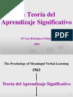 Teoria Aprendizaje Significativo