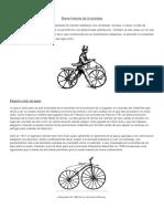 Breve Historia de La Bicicleta