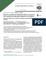 Recursos y fuentes de infomación útiles en la práctica de la medicina de laboratorio basado en la evidencia
