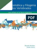 Ricardo Montero, Analía G. Autino-Sistemática y filogenia de los vertebrados Con énfasis en la fauna argentina-Universidad Nacio
