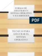 Formas de Asegurar Un Sistema Operativo y Sus