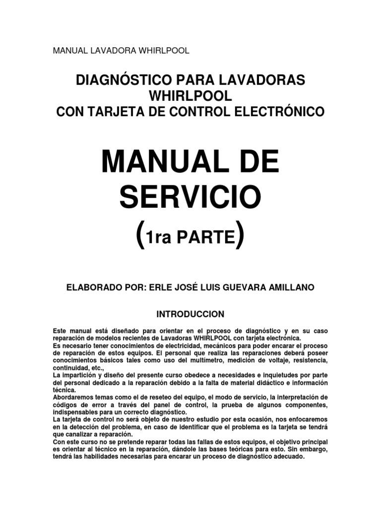 manual lavadora whirlpool rh es scribd com manual de reparacion lavadora whirlpool manual de reparacion lavadora whirlpool