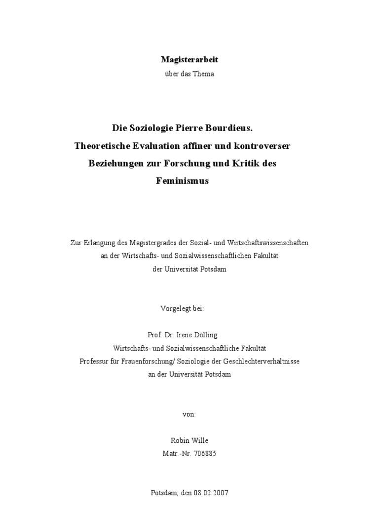 Die Soziologie Pierre Bourdieus _ Theoretische Evaluation Affiner ...