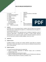 Silabo de Analisis Matematico II