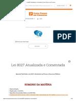 Lei 8027 Atualizada e Comentada _ Como Passar em Concurso.pdf