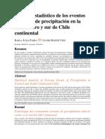 Análisis Estadístico de Los Eventos Extremos de Precipitación en La Zona Centro y Sur de Chile Continental