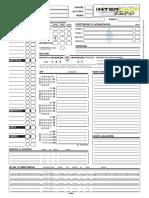 Savage Worlds - Interface Zero - Ficha de Personagem (v. MetalBrain) - Biblioteca ÉLfica