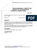 The Gyula Farkas memorial competition in the context of the Hungarian scientific competitions
