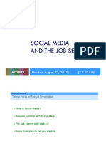 Leveraging Social Media for the Job Search