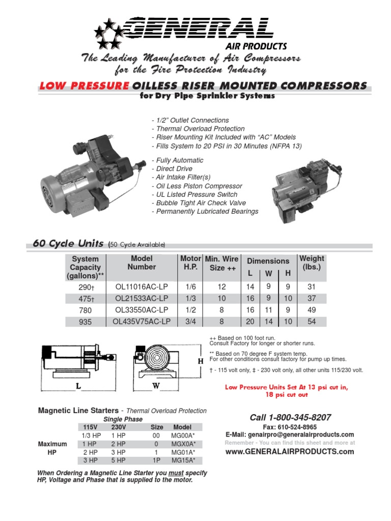Low Pressure OilLessRiserMount CutSheet