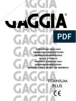 Manual Gaggia Titanium Plus
