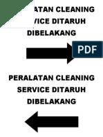 Peralatan Cleaning Service Ditaruh Dibelakang