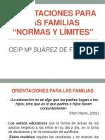 Pp Orientaciones Para Las Familias Suarez Fiol