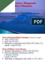 Lab. Diagnosis of Liver -2016