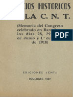 Comicios Históricos de La CNT (Memoria Del Congreso de Barcelona de 1918) [Anarquismo en PDF]