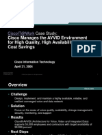 Cisco IT Case Study AVVID Management-projection
