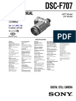 Sony Dsc f707 Level 1 Service Manual