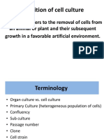 Definition of Cell Culture