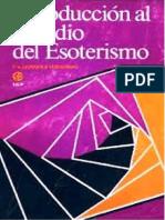 QUIÑONEZ Vesperinas, Pedro - Introduccion al estudio del Esoterismo