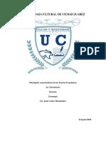 Principales Características de Las Teorías Económicas