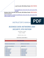 Business Data Networks and Security 9th Edition Panko Solutions Manual